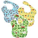 Bumkins Dr Seuss SuperBib, Baby Bib, Waterproof, Washable, Stain and Odor Resistant, 6-24 Months, 3-Pack - Green Eggs, Yellow Fish, Cat In The Hat