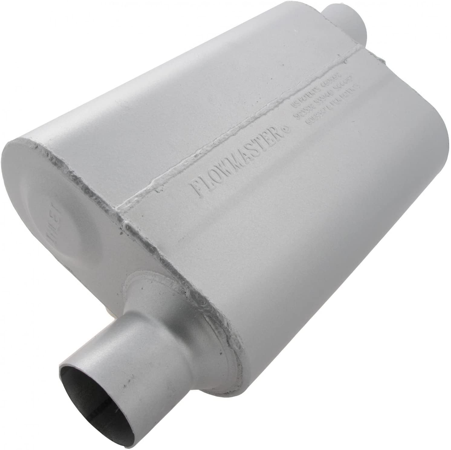 2.50 Offset IN Flowmaster 942543 40 Delta Flow Muffler 2.50 Offset OUT Aggressive Sound