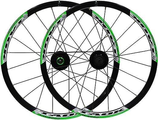 AIFCX Bicicletas montaña Ruedas, 20inch foldBicycle de Ruedas ...