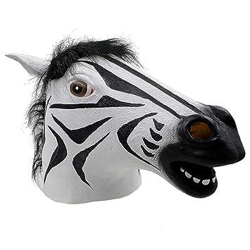 JUKUB Máscara De Cebra Animal Máscara De Halloween Decoración Disfraces Máscara Cosplay Máscara De Cabeza Completa