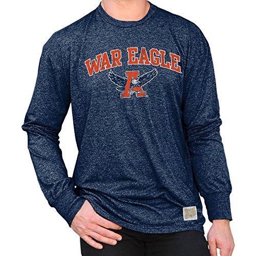 - Elite Fan Shop Auburn Tigers Retro Long Sleeve Tshirt Navy - L