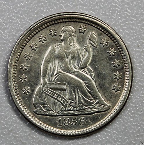 1856 P Seated Liberty Dime 10c About Uncirculated Small Date