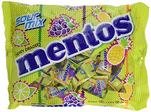 Foodkoncept 110 Pieces Mentos Chewy Mints, Assorted Mixed Fruit, 10.5 Ounce, Assorted Mixed Fruit, 10.50 Ounce -