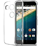 Plus Ultra Clear Transparent Flexible Soft TPU Slim Back cover for LG Nexus 5X