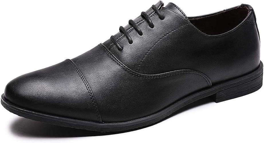Amazon.com: Jivana Oxford Zapatos de vestir para hombres con ...