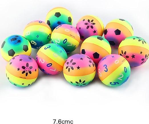 12pcs pelota hinchable drôle sólido flotante elástico salta la ...