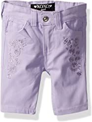 XOXO Baby Girls Toddler Stretch Twill Bermuda Short