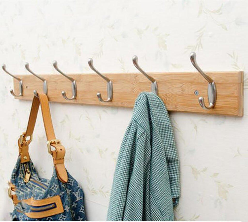 コートラック, 衣類フック壁掛けクリエイティブ衣類フックコートラックウォールハンガーベッドルームフック壁コートフック (Color : 6hooks-74cm) B07SKSNN81 6hooks--74cm