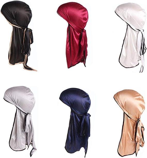 Jintong - 6 gorras de seda suave con cola larga y tirantes anchos ...