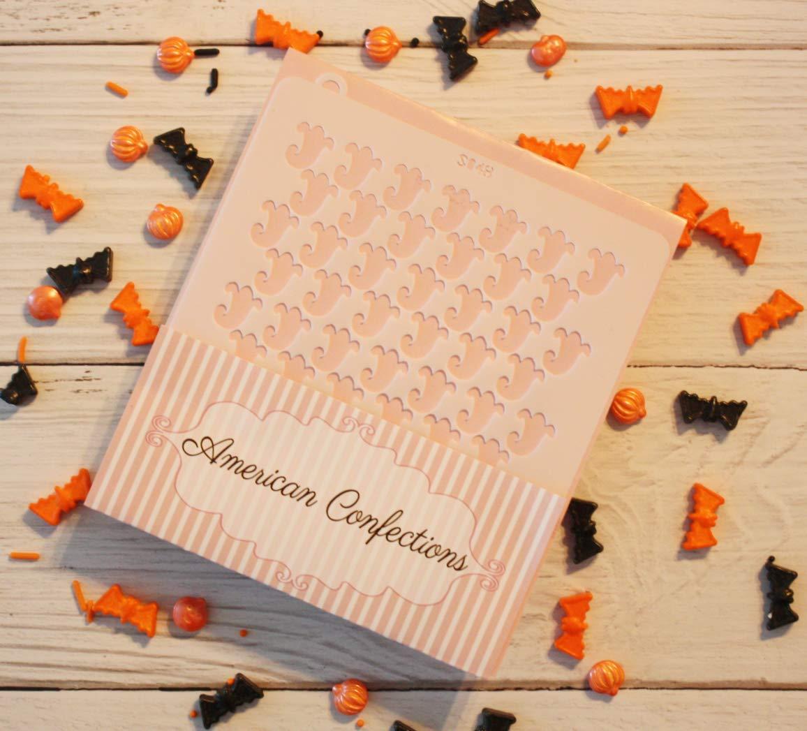 Happy Halloween Cookie Stencil - American Confections - Ghost, Bat, Argyle, Pumpkin - Set of 4