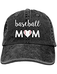 Baseball Mom 1 Vintage Jeans Baseball Cap for Men and Women