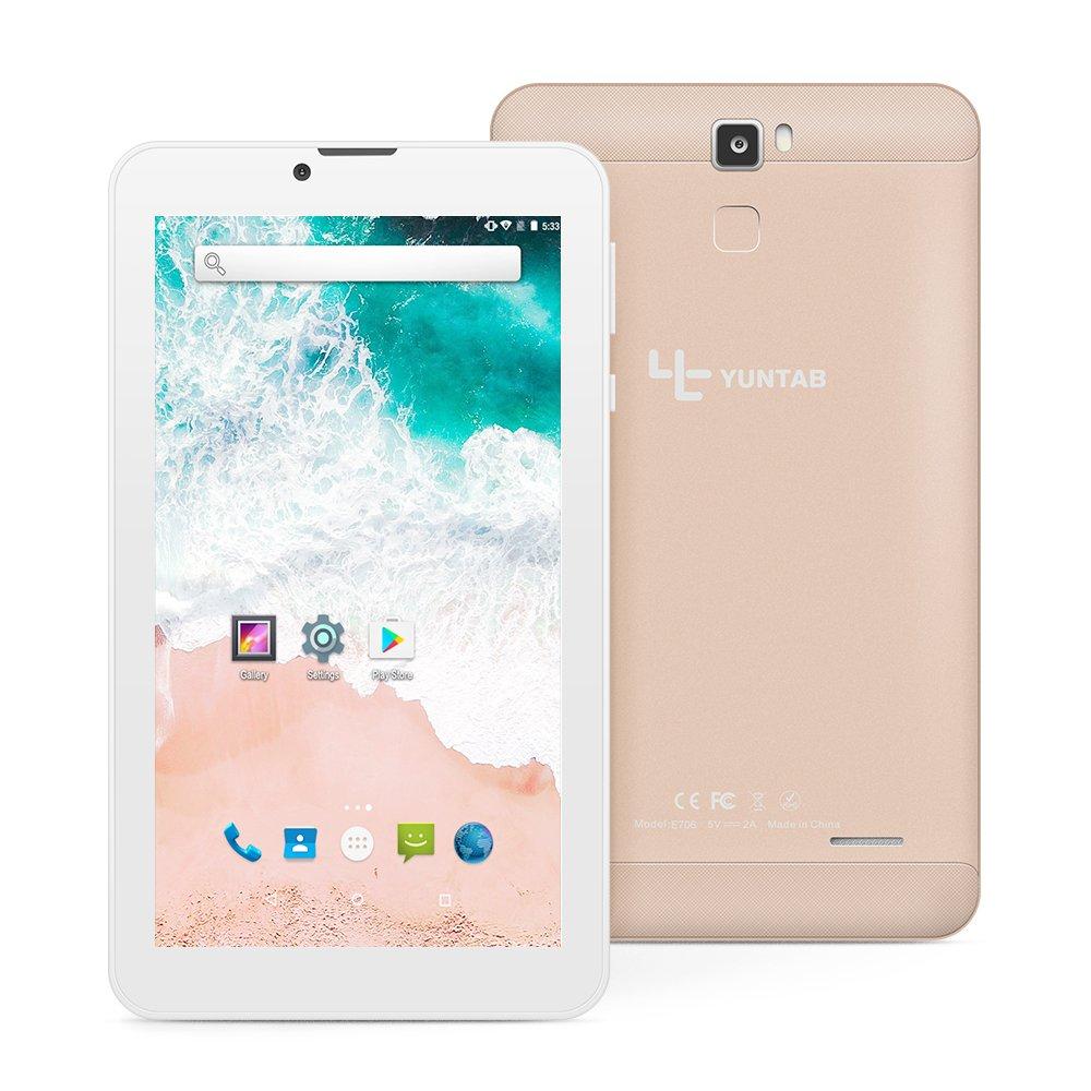 Yuntab E706 7 Inch Quad Core,Google Android 6 0,Unlocked Smartphone Phablet  Tablet PC,1G+8G,HD 1024x600,Dual Camera,IPS,WiFi,G-Sensor,Support 3G Dual