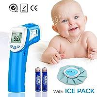 Termómetro Bebés Frente Digital, SOVARCATE Termómetro Infrarrojo Médico apto Pare Bebe y Adultos (almohadilla de Refrigeración gratuito)