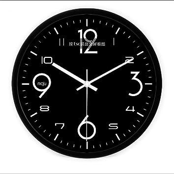 HONG  Uhr Mode Nicht Tickende Schlafzimmer Wanduhr Römischen Ziffern  Wohnzimmer Stumm Einfache Quartz Dekoration Uhr