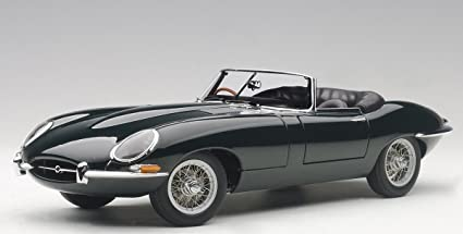 Jaguar E Type >> Jaguar E Type Series 1 3 8 Green With Metal Wire Spoke Wheels 1 18 Diecast Model Car By Autoart 73604