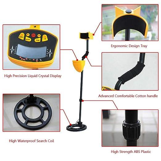 HENGKANG Detector De Metales MD3010II Porque Alta Sensibilidad Impermeable Subterráneo Detector De Metales Joyería Caza Búsqueda del Tesoro Búsqueda del ...