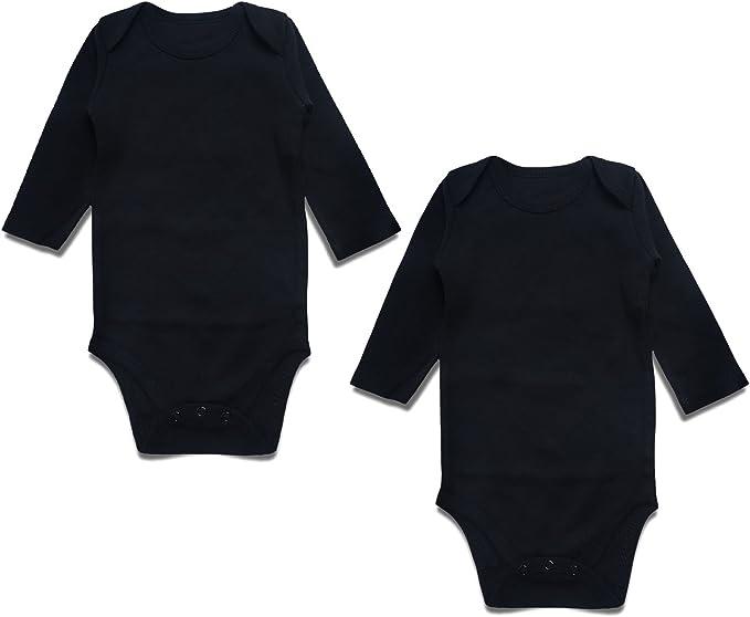 DEFAHN Baby Bodysuit Solid 2 Pack Short-Sleeve Onsies for Infant Girls Boys 0-24 Months