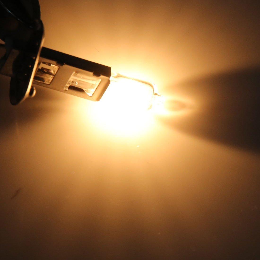 Amazon.com: eDealMax DC 12V 100W H1 Amarillo bombilla halógena de conducción luz de niebla de la lámpara del faro Para el coche auto: Automotive