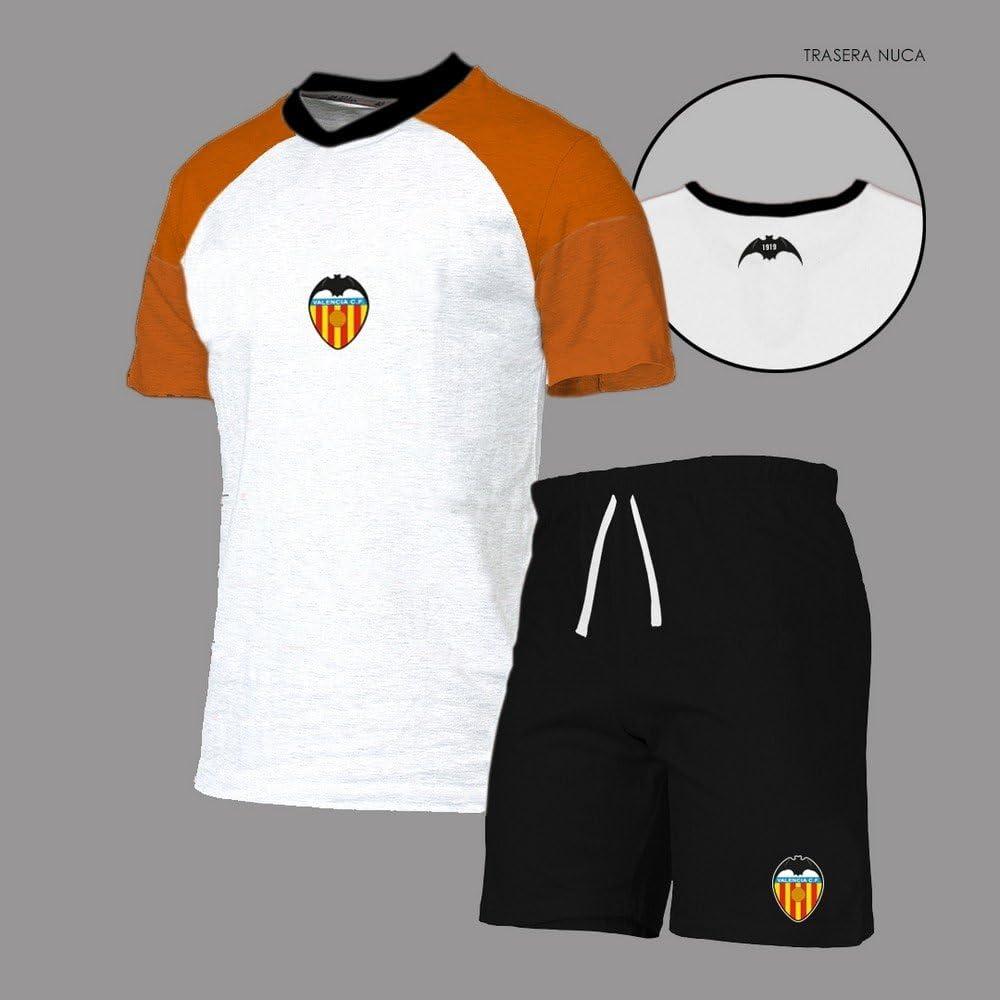 Valencia CF Pijvcf Pijama Corto, Unisex niños, Blanco, XS/14: Amazon.es: Deportes y aire libre