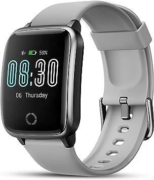 LIFEBEE Smartwatch, Reloj Inteligente Impermeable IP68 con Monitor de Sueño Pulsómetros Cronómetros Contador de Caloría, Pulsera de Actividad Inteligente para Hombre Mujer niños con iOS y Android: Amazon.es: Electrónica