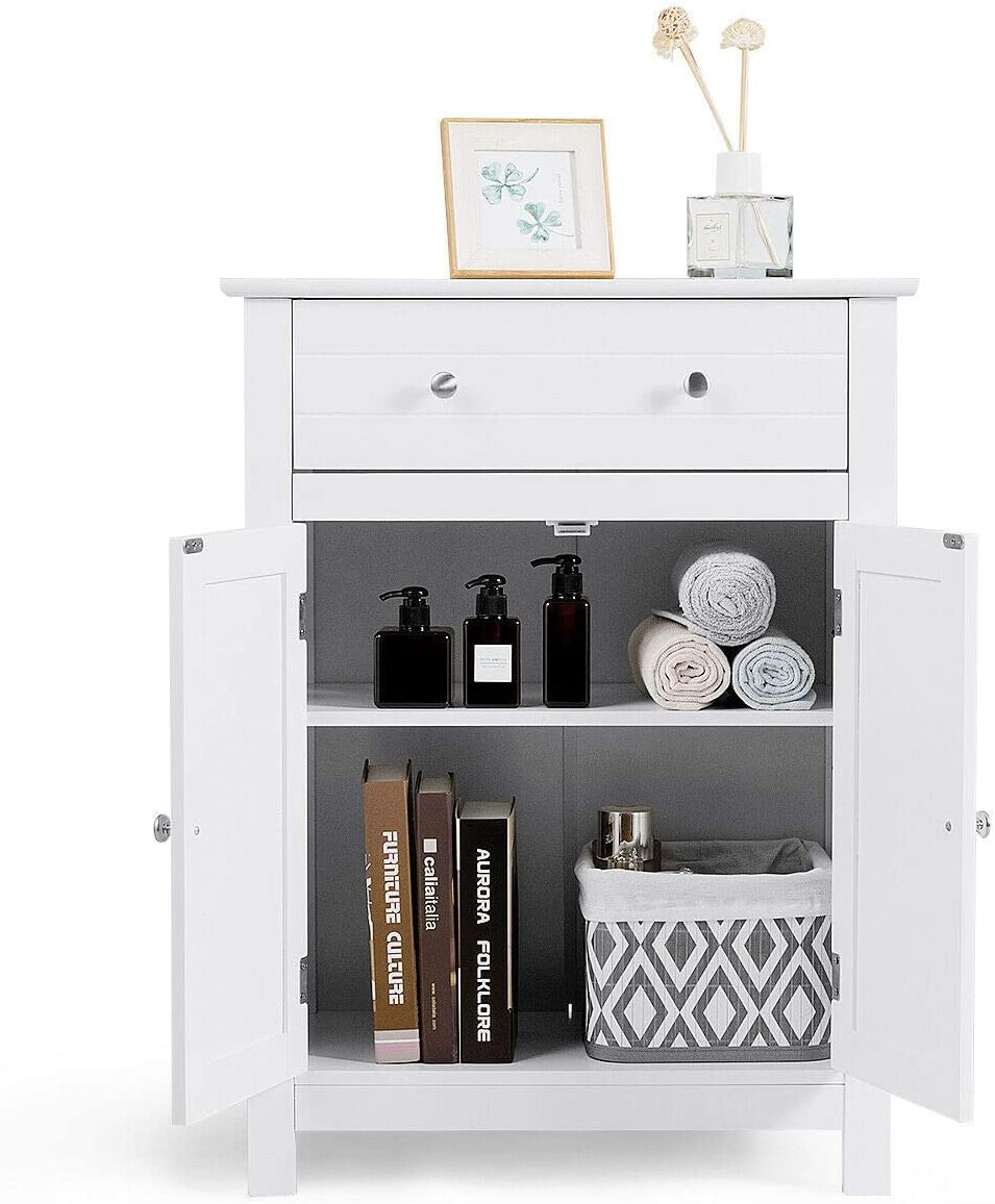 GLACER Bathroom Floor Storage Cabinet
