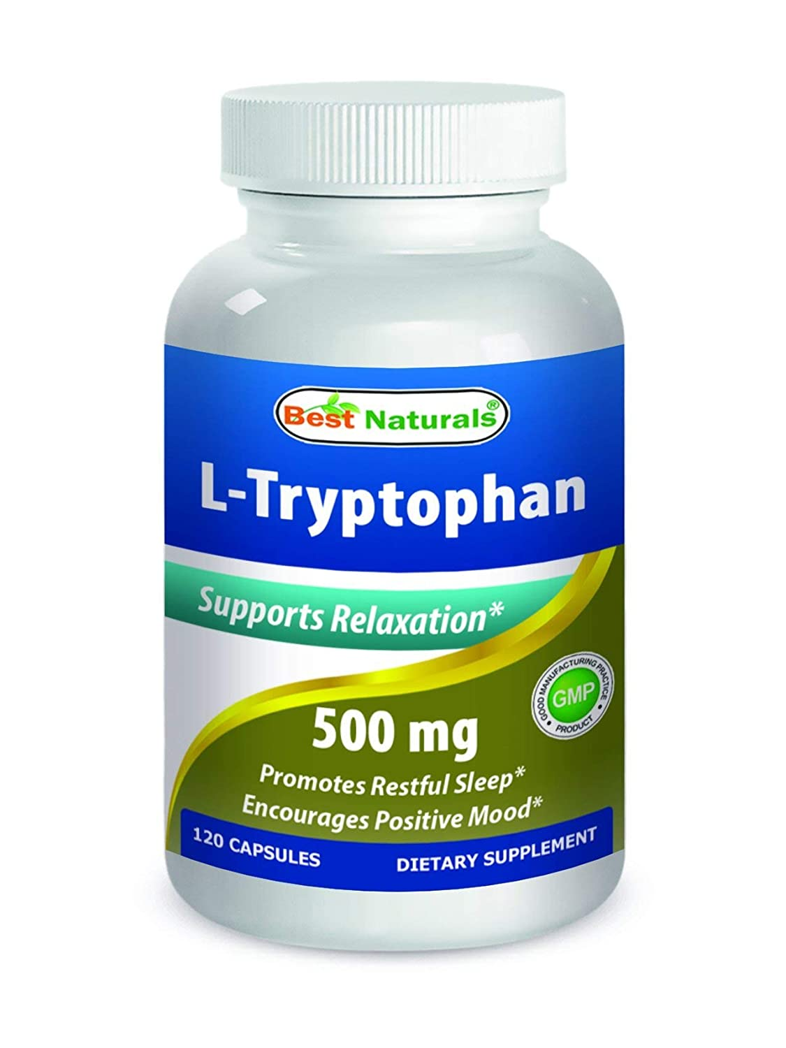 Amazon.com: Best Naturals L-Triptófano 500 mg 120 Cápsulas ...