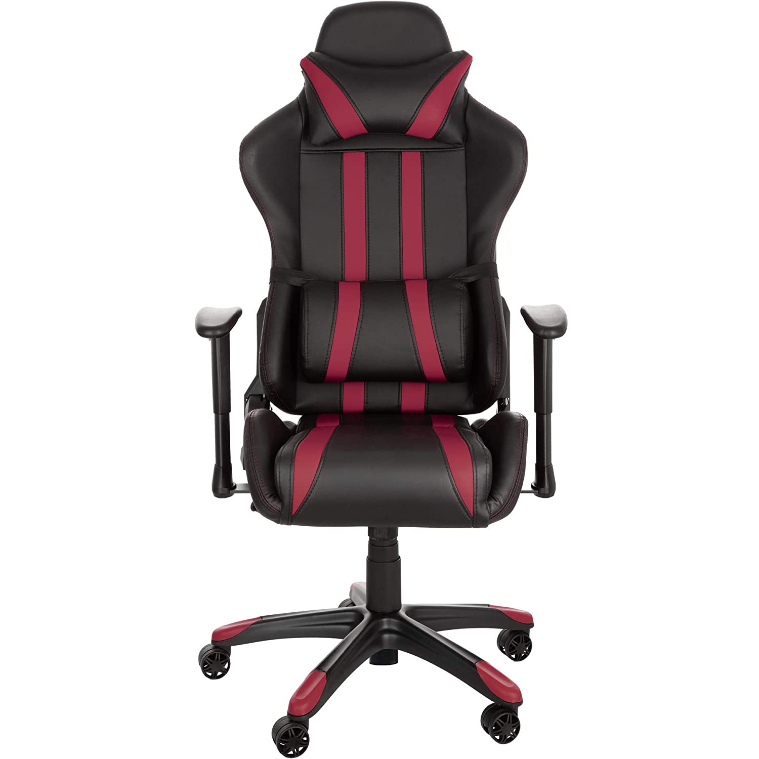 TecTake Silla de oficina ergonomica racing gaming con soporte lumbar - disponible en diferentes colores - (negro burdeos | no. 402232): Amazon.es: Hogar