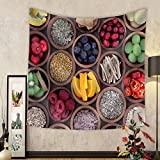 Gzhihine Custom tapestry Health and Super Food to Boost Immune System - Fabric Wall Tapestry Home Decor