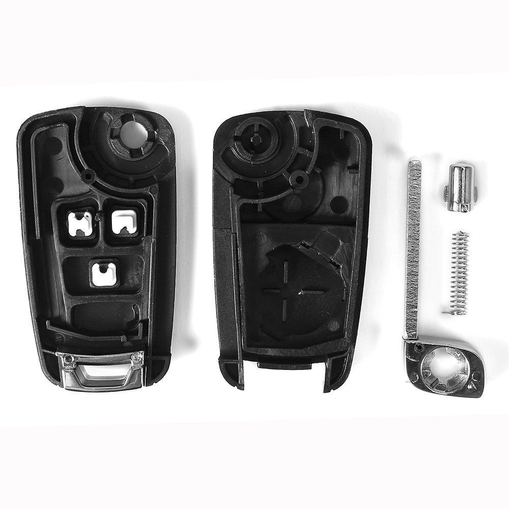 REFURBISHHOUSE Funda de Llave remota Plegable de 3 Botones para Vauxhall Zafira Opel Astra Insignia