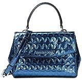 MICHAEL Michael Kors Ava Mini Specchio Leather Crossbody Bag , Steel Blue