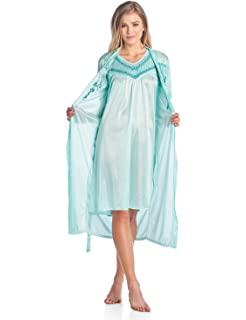 eb5786b4083d Casual Nights Women s Sleepwear 2 Piece Nightgown and Robe Set at ...