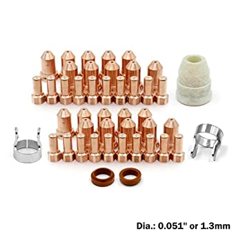10 x Electrodes 80A Nozzles 51311.13 for PT80 iPT80 iPT-80 PT-80 Plasma Torch