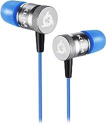 ⭐️KLIM Fusion Écouteurs Haute Qualité Audio - Durable + Garantie 5 Ans - Innovant : Ecouteurs Intra-auriculaire avec Mousse à Mémoire de Forme avec Microphone [ Nouvelle Version 2018 ] - Bleu