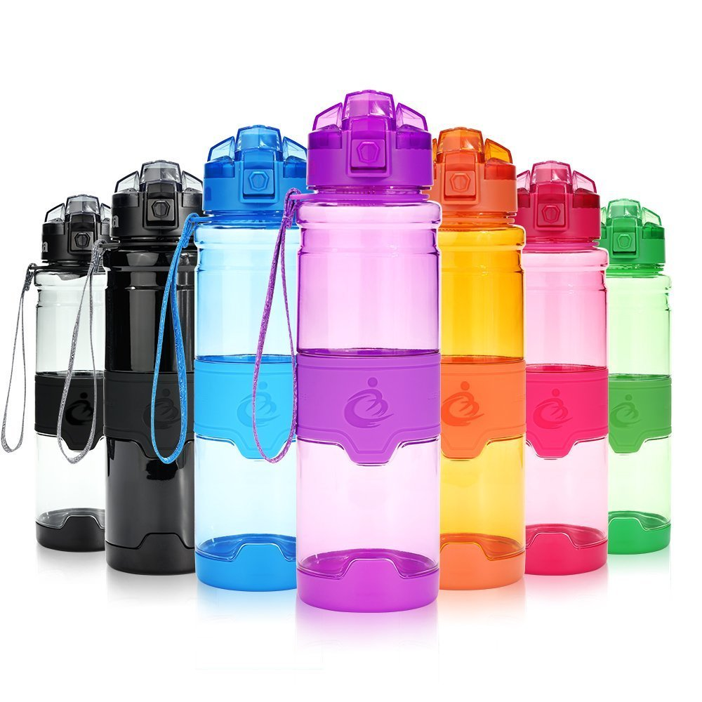 Grsta Sport Water Bottle, 400ml/500ml/700ml/1000ml - Bpa Free Eco-Friendly Tritan Plastic, with Filter, 1-Click Open, for Kids, Running, Gym, Yoga, Camping, Outdoors - Leak Proof Flip Top