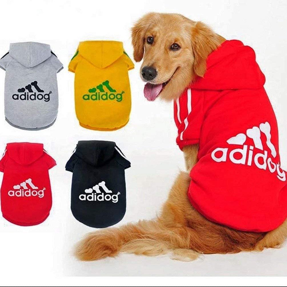Scheppend Ropa para Perros Adidog Ropa para Perros Abrigo de Invierno Cachorro Gato Cachorro Sudaderas con Capucha Ropa de algodón para Perros pequeños(Yellow,XS): Amazon.es: Productos para mascotas