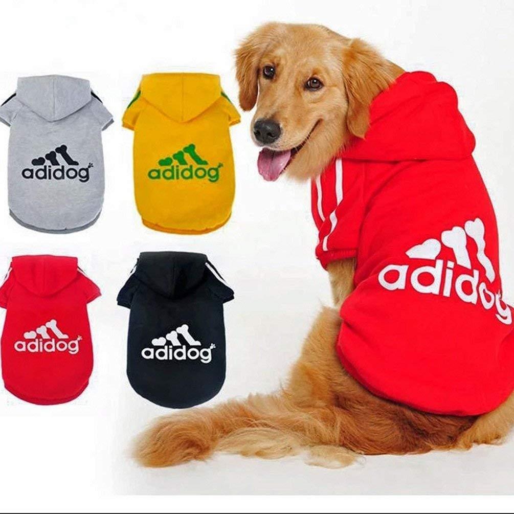Grey,5XL Scheppend Ropa para Perros Adidog Ropa para Perros Abrigo de Invierno Cachorro Cachorro de Gato Sudaderas con Capucha Ropa de algod/ón para Perros