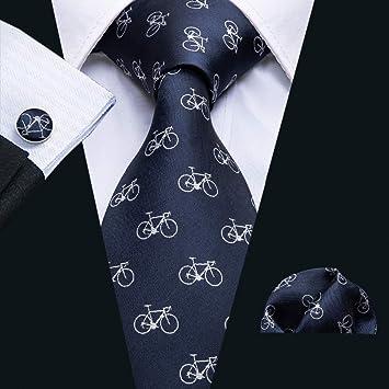 RENZHEN Hombres Corbatas Diseñador Moda Bicicleta Patrón Corbata ...