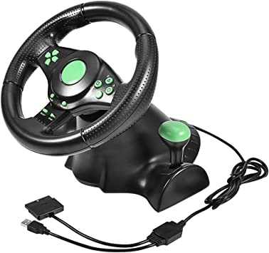 Bewinner Volante Gaming Racing, diámetro de Carrera, 23 cm, conexión por Cable, rotación de la dirección