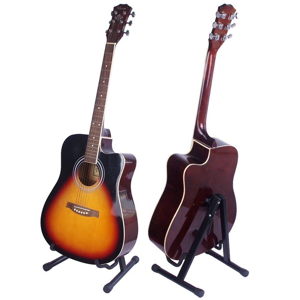 Gleam ajuste - Soporte para guitarra eléctrica, clásica y bajo, guitarra Accesorios, soporte para guitarra a-frame individual plegable: Amazon.es: ...