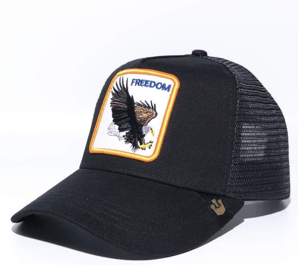 sdssup Pájaro Carpintero Bordado Gorro Malla Ojo águila Negro Ajustable