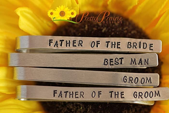 Father of the Bride Personalised Groom Tie Clip Best Man Father of the Groom