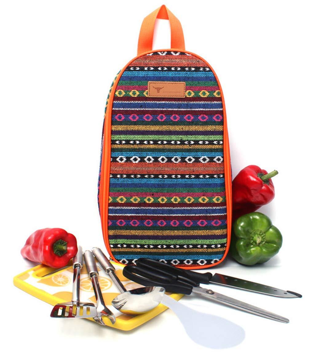 Eohak Cooking Utensils Travel Bag Camp - Portable Camping Kitchen Utensils Organizer (Orange) by Eohak