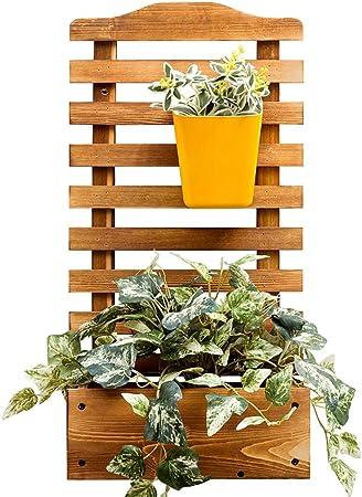 JANRON Macetero Rectangular de Madera para jardín con Enrejado para Plantas de Escalada de jardín, Maceta, jardín, Patio, Panel de Enrejado de Madera – 30 x 16 x 60 cm: Amazon.es: Hogar