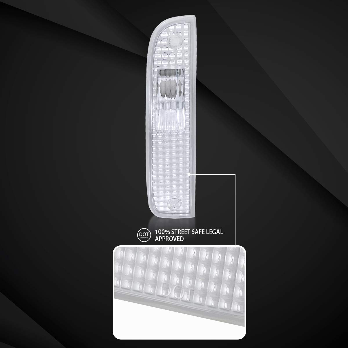 Autozensation For Jeep Cherokee Chrome Clear Corner Turn Signal Lights