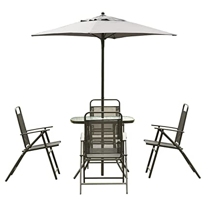 Amazon.com: giantex Patio Jardín Set de muebles con mesa de ...
