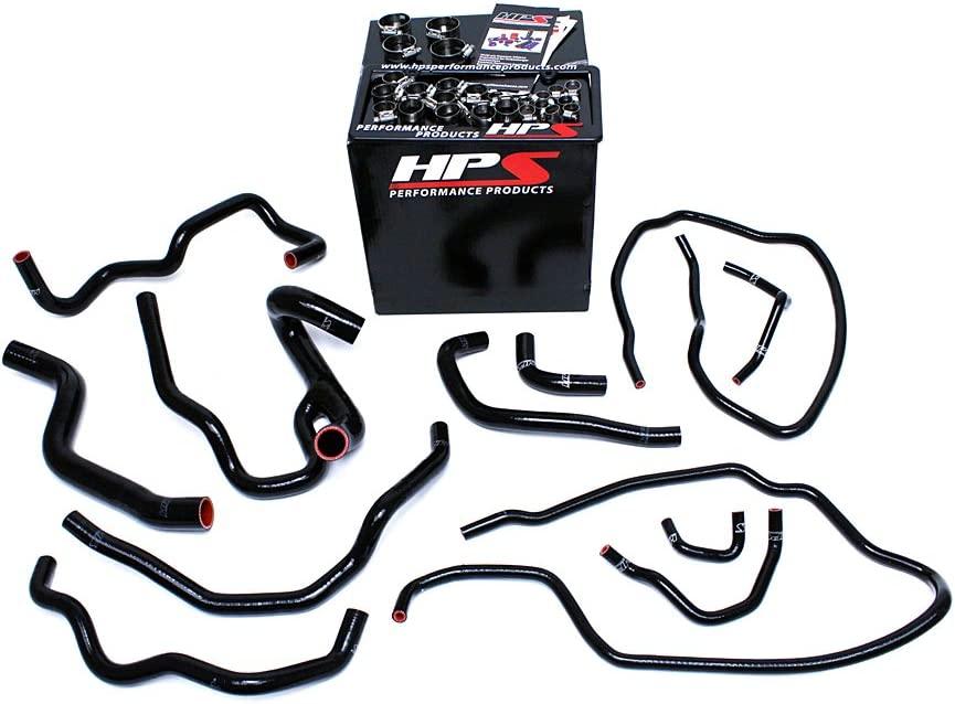 HPS 57-1511-RED Silicone Radiator and Heater Hose Kit Coolant