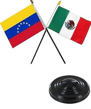 """Venezuela 7 y juego de mesa de escritorio 4 """"x6"""" bandera de México"""
