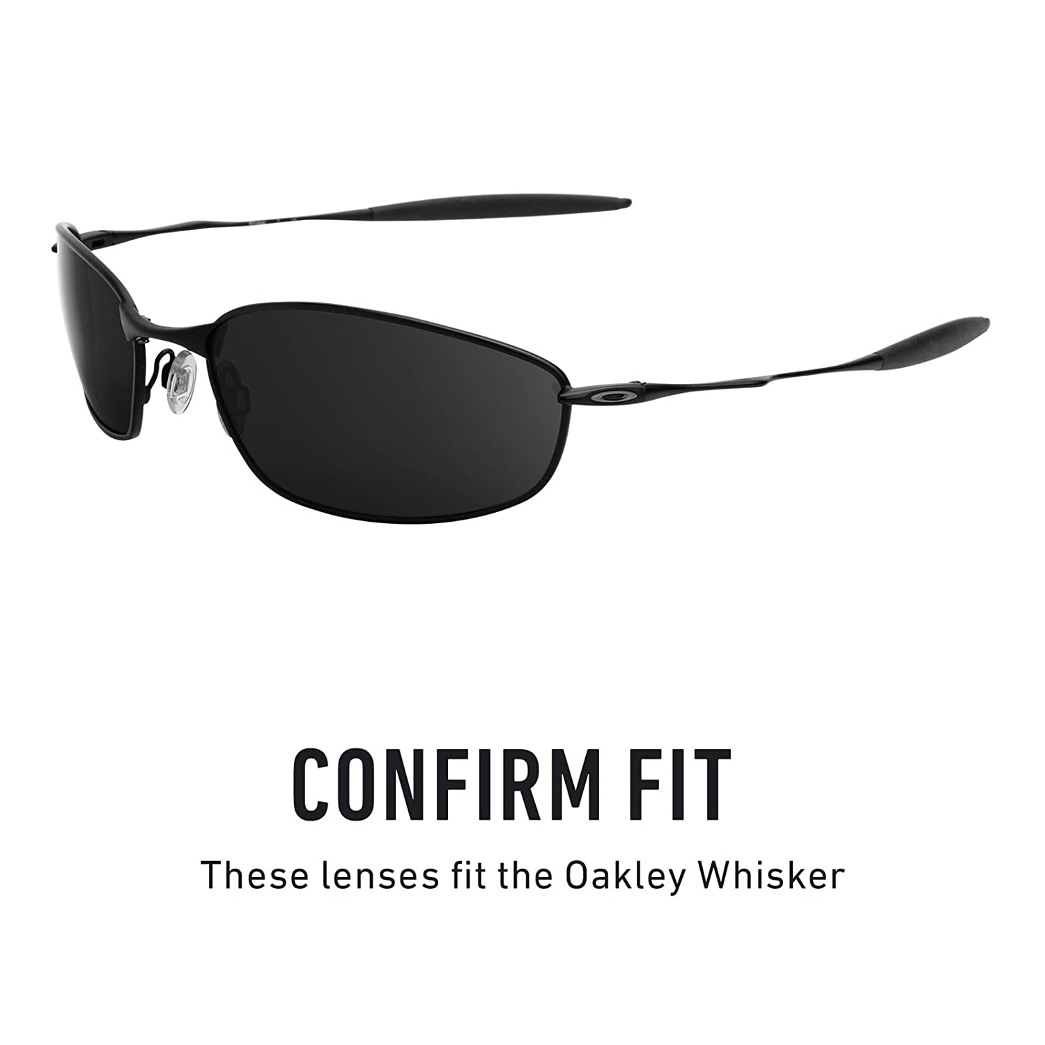 001085715d Revant Polarized Replacement Lenses for Oakley Whisker Black Chrome  MirrorShield®  Amazon.ca  Sports   Outdoors