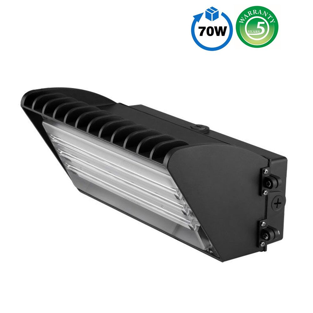 1000LED LED Wall Pack 70W (250W HID/HPS Replacement), Premium 7,200Lm Supert Bright AC110-277V, Waterproof IP65 Walkway Lights, Daylight White 5000K, UL DLC Listed, Outdoor Exterior Wall Light