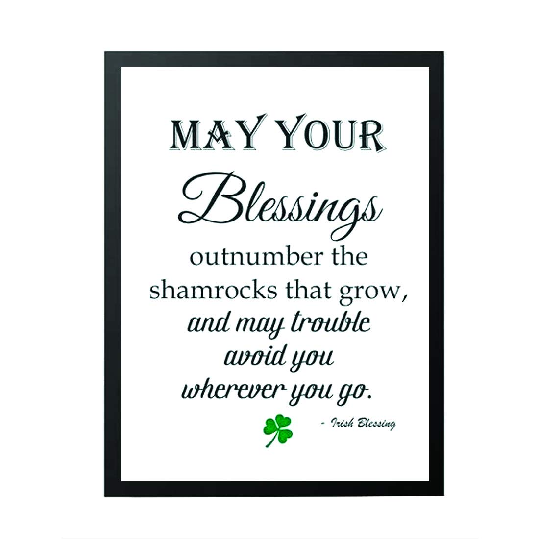 picture regarding Calligraphy Letters Printable identified as : St Patricks decor - May well your blessings
